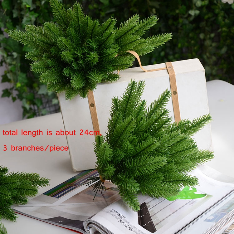 1pack artificial flower fake plants pine branches christmas tree for christmas party decorations xmas tree ornaments kids gift in artificial dried flowers