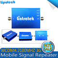 WCDMA 2100 MHz Celluar 65dB Impulsionador 3G WCDMA 2100 MHz Celular Repetidor de Sinal Amplificador para Casa Hotel e Café bar