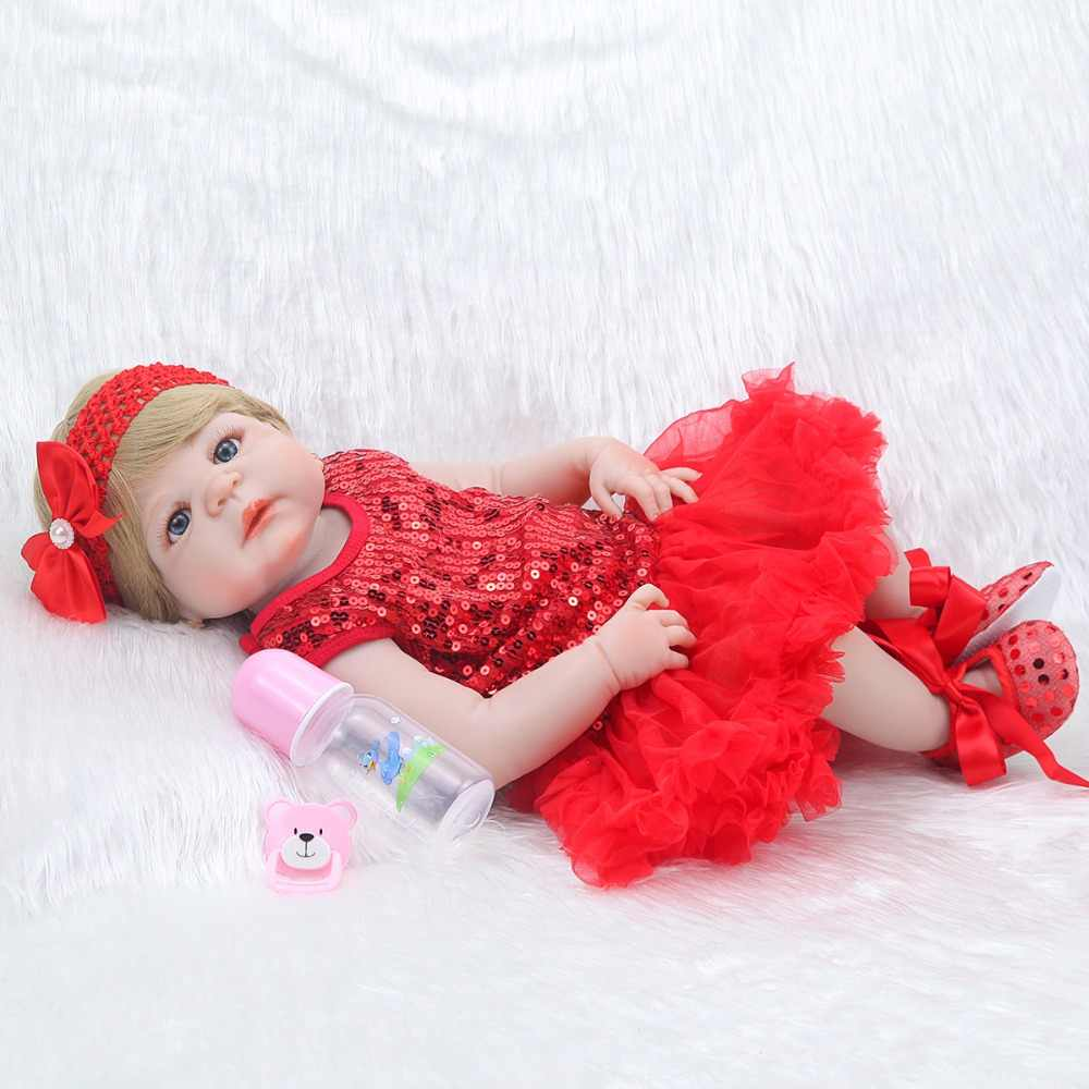 55 см мягкие силиконовые куклы Reborn Baby Реалистичная кукла Reborn 22 дюйма полностью виниловая кукла Boneca Baby Reborn для девочек