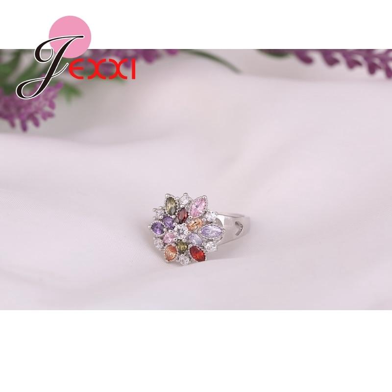 Patico fashion perhiasan partai finger cincin colorful cz kristal s90 - Perhiasan fashion - Foto 2