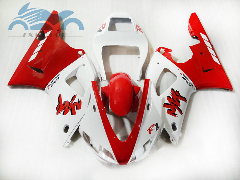 Upgrade your motorcycle bodywork fairing Kits Fit for YAMAHA 1998 1999 YZFR1 98 99 YZF R1 sport plastic fairings kit red white
