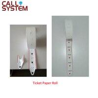 4 roll/pack Tickets Papier Roll voor ticket dispenser gebruikt in Wachtrij Oproepsysteem met 2000 stuks nummer