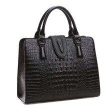 High quality Genuine leather bag ladies crocodile pattern Women messenger bags handbags women famous brand designer