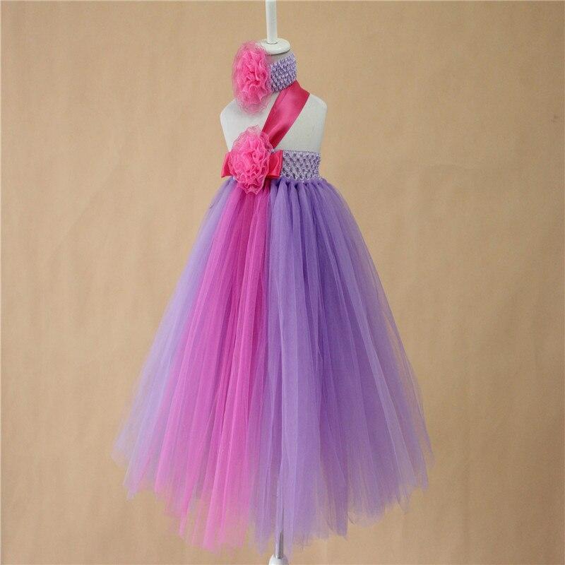 핫 핑크 보라색 투투 여자 아기 유아 생일 파티 브라운 투투 드레스 수제 소매 브라운 아이 드레스 머리띠