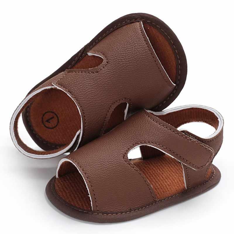 2018 Nieuwe stijl Merk Baby Sandalen Leuke Jongens en Meisjes Zomer sandalen Antislip Peuter Schoenen Uitsnijdingen baby PU lederen sandalen