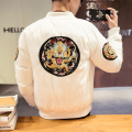 Plus size M-5XL china style men winter jacket dragon embroidery male street fashion hiphop thicken coat casual overcoat MY11