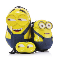 Minions Child luggage children trolley ,3D Cartoon backpack,cartoon pattern custom suitcase