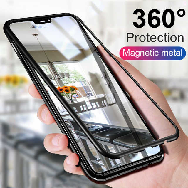 Роскошный 360 градусов магнит чехол на для Huawei P20 Pro P20 противоударный чехол для телефона для Huawei P20 Lite Стекло бампер чехол