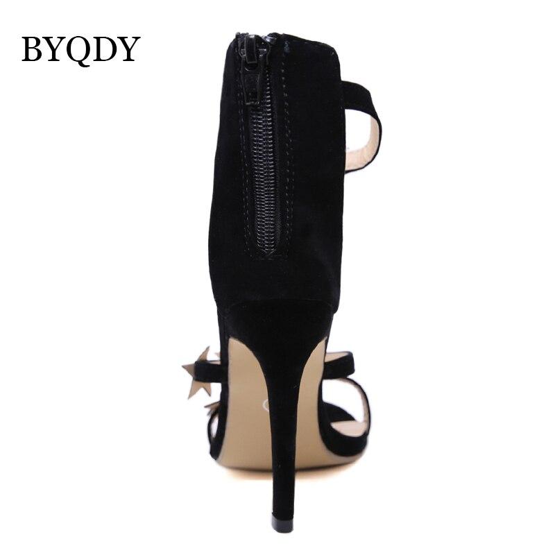 Femme Troupeau Bout Chaussures Haute Robe La 2019 Dames Ouvert Pour Talons Zipper Femmes Partie Promotion Byqdy Sandales Shoes Black Cristal RLc4jS3Aq5