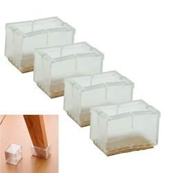 4x новый квадратный колпачки на ножки стула резиновые средства ухода за кожей стоп протектор колодки мебель стол Covers-F1FB