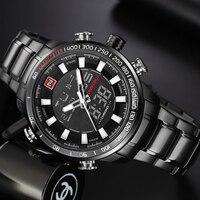 NAVIFORCE Luxury Fashion Brand Analog Led Digital Watches Men Steel Quartz Clock Military Sport Wristwatch Relogio