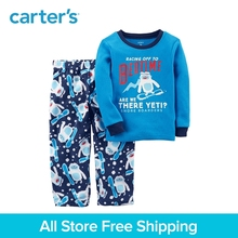 Carter s 2 Piece baby children kids clothing Boy Thermal Fleece PJs 347G366