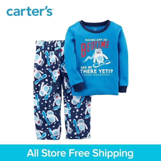 60c8316e4 Online Shop Carter's 2-Piece baby children kids clothing Boy Thermal &  Fleece PJs 347G366 | Aliexpress Mobile