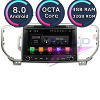 Roadlover Android 8.0 Car DVD Player Radio For KIA Sportage 2016 Stereo GPS Navigation Automagnitol 2 Din Octa Core Multimedia