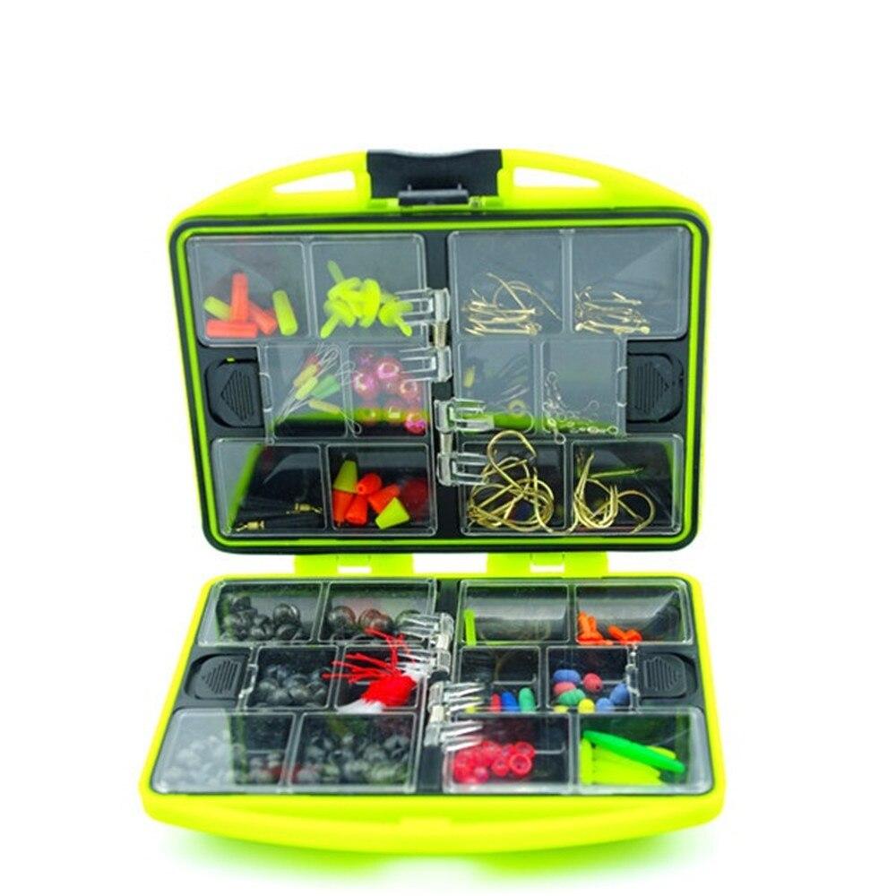 2016 New Rock Fishing Accessories Box Surf Casting fishing tackle box Swivel Jig <font><b>Hooks</b></font> tools set Green