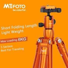MeFoto MF15 Statief Reflexed Monopod Selfie Stick Mini Draagbare Statief Voor Camera Met Bal Hoofd 5 Sectie DHL Gratis Verzending