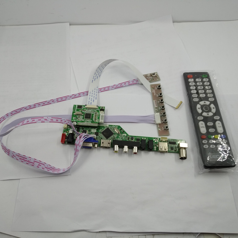 LED EDP TV56 à distance VGA USB Audio RF HDMI LCD contrôleur carte kit pour BOE affichage NT156WHM-N42 1366X768 écran panneau moniteur