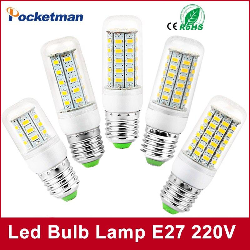 2018 High Bright LED Lamp E27 220V 240V SMD5730 Bombillas LED Bulb Corn Light Lighting Warm White/Cold White 1Pcs