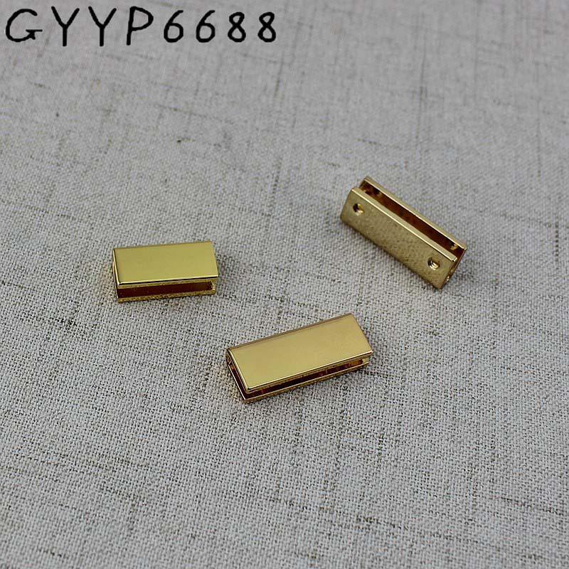 High Quality 10mm 13mm 25mm 34mm Deep Gold Purse Zipper Decoration End Clips By Screws Hardware Straps Tail Clasp Accessory