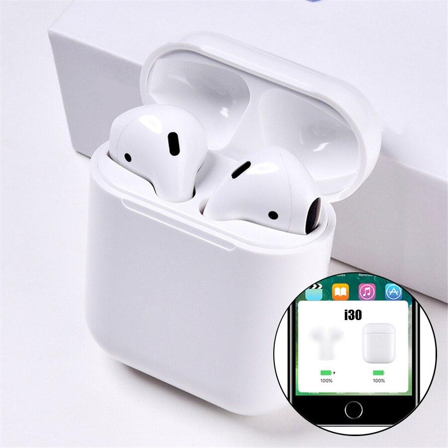 I30 tws Bluetooth écouteurs sans fil écouteur Pop Up tactile Bluetooth écouteurs 1:1 réplique contrôle tactile Super basse musique casque