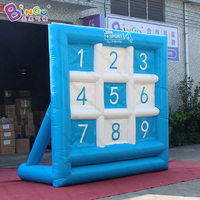 Free express 3X1.5X3 meters inflatable soccer shooting game for kids soccer goal football shooting target hot sale outdoor toys