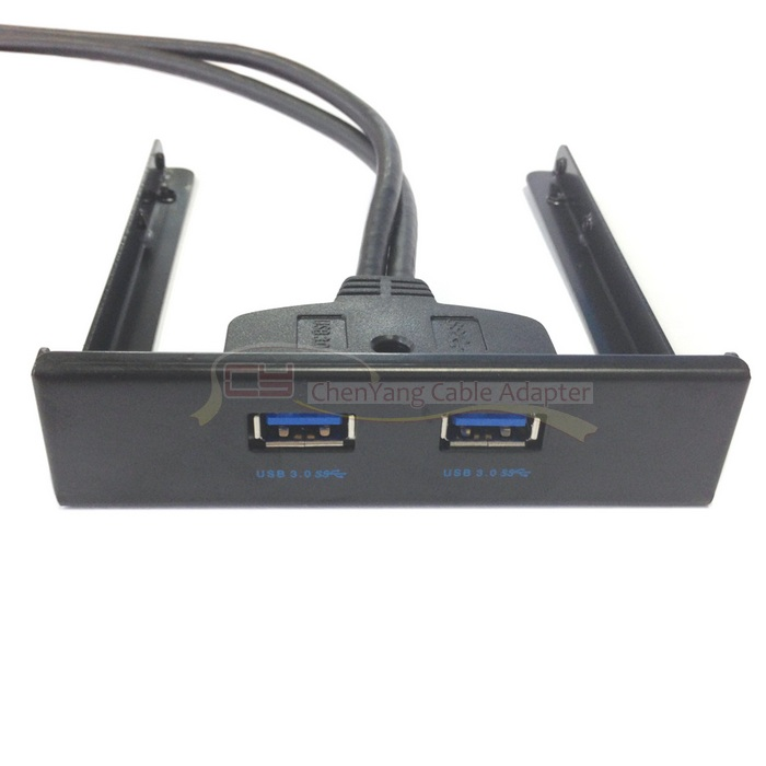 10pcs/ 50cm Motherboard 20 Pin to USB <font><b>3</b></font>.0 Two Port Front Panel for <font><b>3</b></font> <font><b>5</b></font>