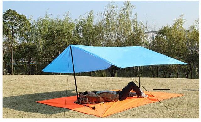 Online shop ultralight sun shelter camping mat beach tent pergola
