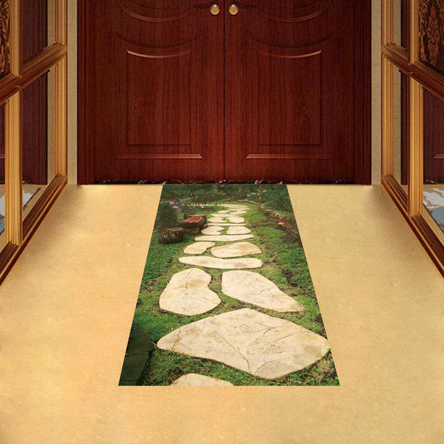 creative 3d skid proof floor stickers stone road pattern decorative kids room home decoration accessories