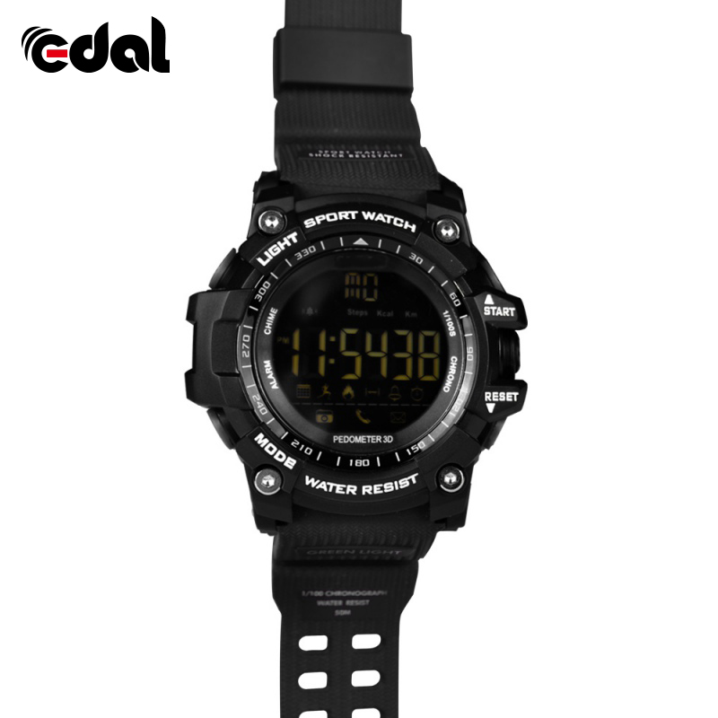 2018 Men Fashion Outdoor Sports Waterproof Smart Watch Pedometer Calories Chronograph Smart Wear Equipment Smartwatch