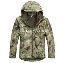 Free shipping  Tactical Hoodie Military Jacket TAD V4.0 Men's Outdoor Camping Hiking Hunting Waterproof Coats Camouflage Color