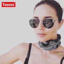 Yoovos 2019 Metal Round Luxury Sunglasses Women Vintage Eyewear Classic Brand Designer Sun Glasses Driving Oculos De Sol Gafas feidu мода steampunk goggles sunglasses women men brand designer ретро side visor sun round glasses women gafas oculos de sol