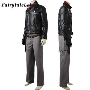 Image 4 - Negan Costume dhalloween, Costume pour adulte TV The Walking Dead season, 8 Cosplay Negan Black veste écharpe, ceintures, tenue Cosplay