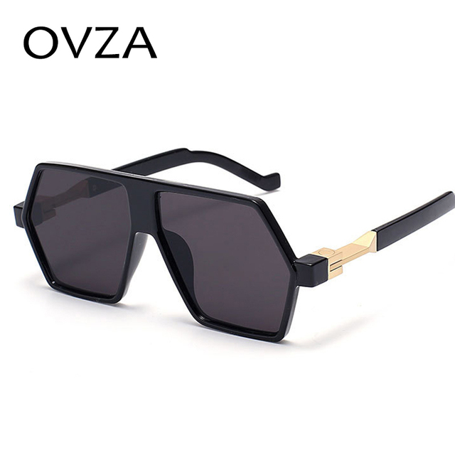 OVZA 2018 Fashion Mens Sunglasses Brand Designer High quality Flat top  Mirror Sunglasses Women Retro style 306 6b2d7daba0