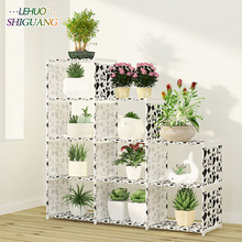 Multi layer Storage Shelf Stainless steel nonwovens bookshelf Simple Assembly can be removed Bedroom Flower pot rack