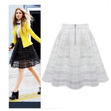 #4 DROPSHIP 2018 NEW HOT Fashion Women Organza Skirts High Waist Zipper Ladies Tulle Skirt Freeship