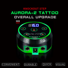New Professional Mini AURORA II LCD Tattoo Power Supply with Power Adaptor for Coil & Rotary Tattoo Machines(China)