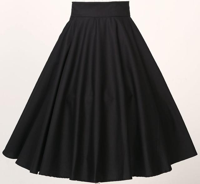 Свободный корабль наличие на складе S до 6XL плюс размер женщин одежда классический полный круг качели юбки черный красный 5xl 4xl пушистый юбка
