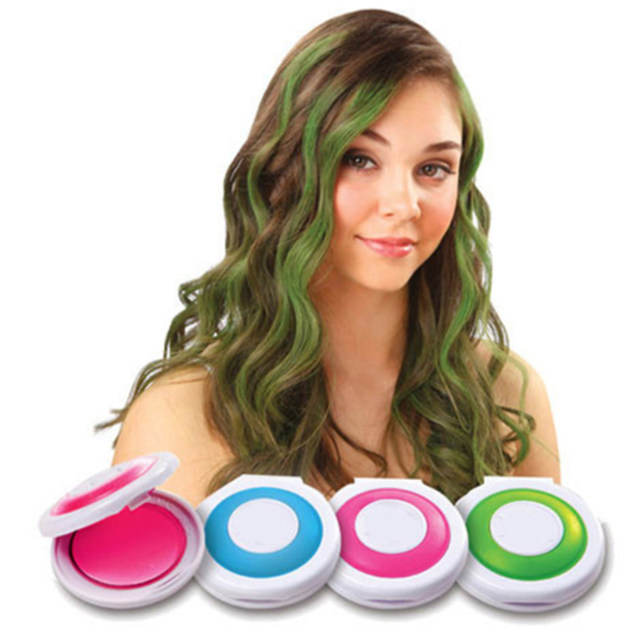 Online Shop New Fashion 1 Set 4 Colors Hair Dye Temporary Hair Chalk