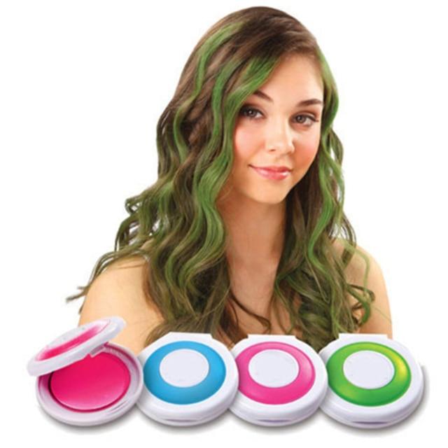 Новая мода 1 компл. 4 цвета краска для волос Временного Волос Мел Косметическая пудра мягкий салон Окрашивание волос DIY Мел S для волос bo