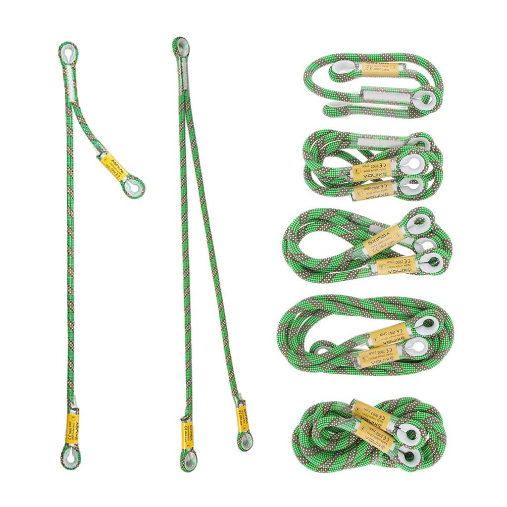 Braided Prusik Cord Loop Sewn Eye To Eye 10.5mm Nylon Lanyard For Outdoor Tree Climbing Rescue Caving