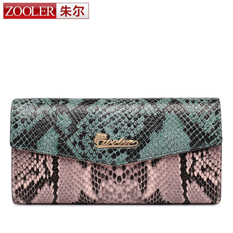 ZOOLER Vintage Quality Leather Long Fashion Women Wallets Designer Brand Clutch Purse Lady Party Snake Wallet Female Card Holder new arrival 2017 wallet long vintage man wallets soft leather purse clutch designer card holders business handbags clips