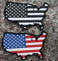 10pcs Rubber America Flag Patch Map Tactical Patches 3D PVC Military United States Map Badge Hook Glow In Dark Armband Wholesale
