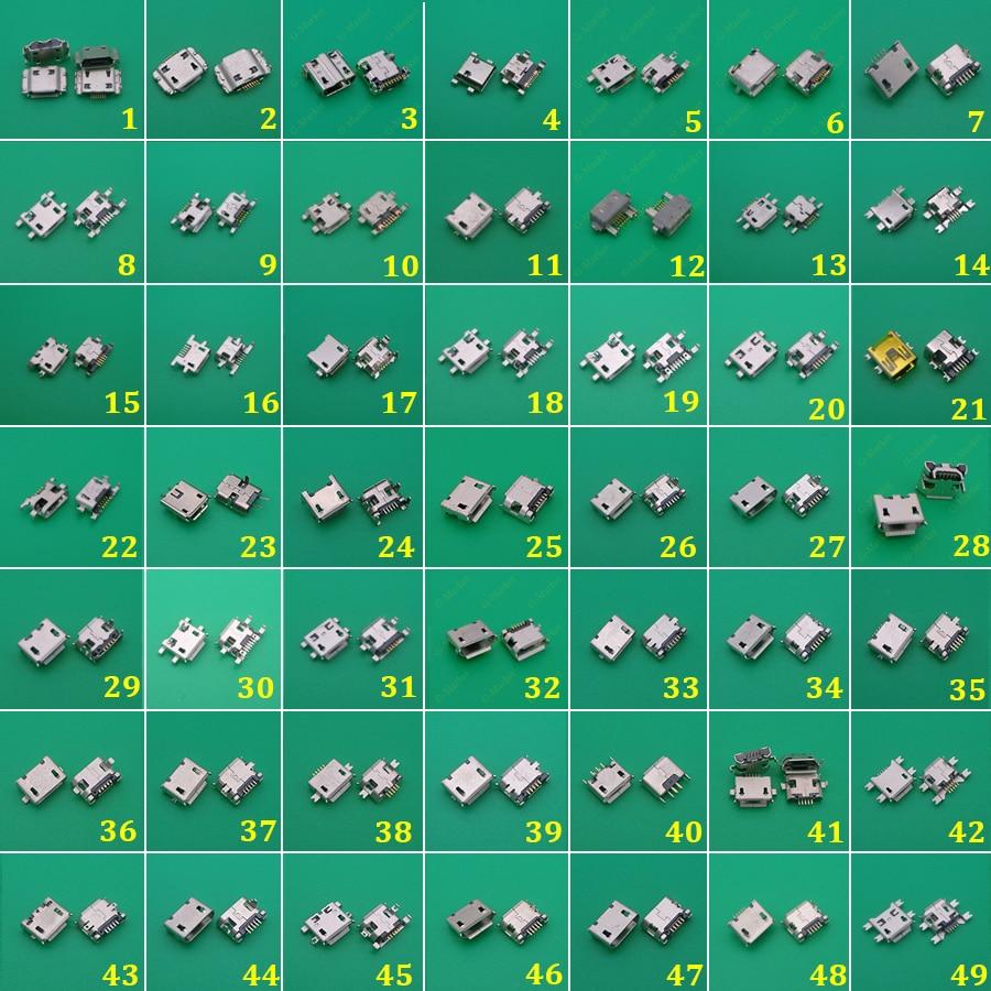 Prise de charge de 49 modèles | Mini, connecteur Micro USB, prise de courant v8, pour Samsung Lenovo Sony HUAWEI tablette de téléphone portable