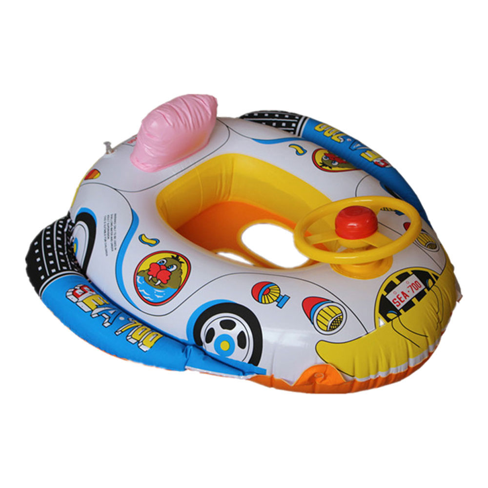 Aliexpress.com : Buy Cartoon Baby Inflatable Swimming Car Seat Ring ...