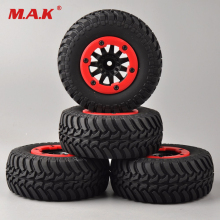 4 pcs/set RC car 1:10 short course truck tires set tyre wheel rim fit for TRAXXAS SlASH HPI remote control car model toy parts цены онлайн