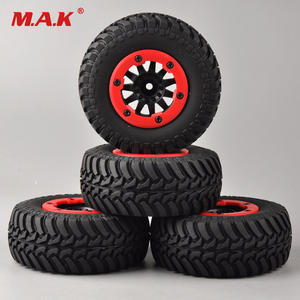 Image 1 - 4 pcs/set RC car 1:10 short course truck tires set tyre wheel rim fit for TRAXXAS SlASH HPI remote control car model toy parts