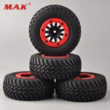 4 pièces/ensemble RC voiture 1:10 course courte camion pneus set pneu roue jante adapté pour TRAXXAS SlASH HPI télécommande voiture modèle jouet pièces