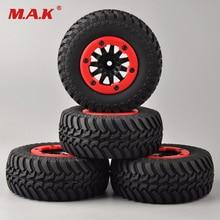 4 unids/set RC car 1:10 juego de neumáticos de camiones de recorrido corto neumático con borde de rueda apto para TRAXXAS SlASH HPI coche de control remoto modelo juguete partes