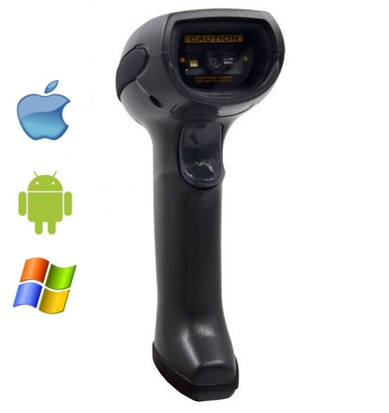 LS07B Updated Black handheld bluetooth wireless 2D barcode scanner,QR bar code reader with bluetooth receiver