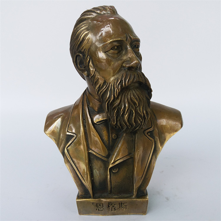 free shipping Chinese Brass Bronze great Leader politician Engels Head Art bust Statuefree shipping Chinese Brass Bronze great Leader politician Engels Head Art bust Statue